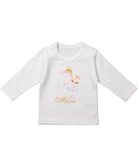 Verjaardag T-shirt lange mouwen voor meisjes ballerina