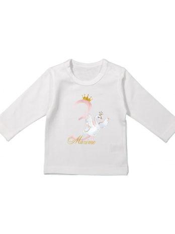 Verjaardag T-shirt lange mouw voor meisjes – Zwaan