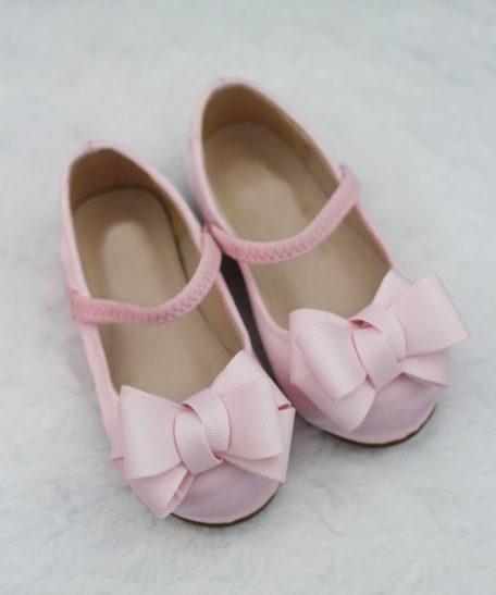 Lichtroze roze bruidsmeisjes schoenen communieschoen meisjes