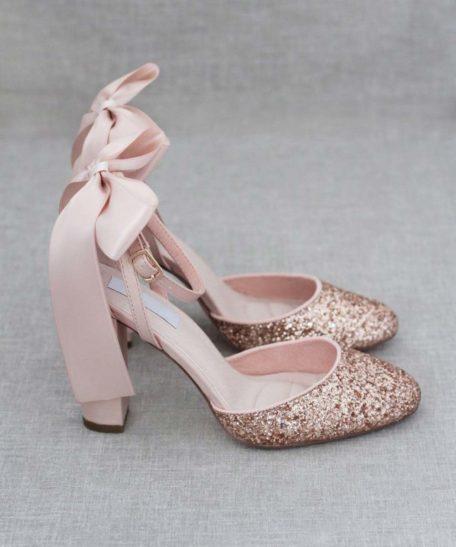 Rosé gouden hak schoenen dames