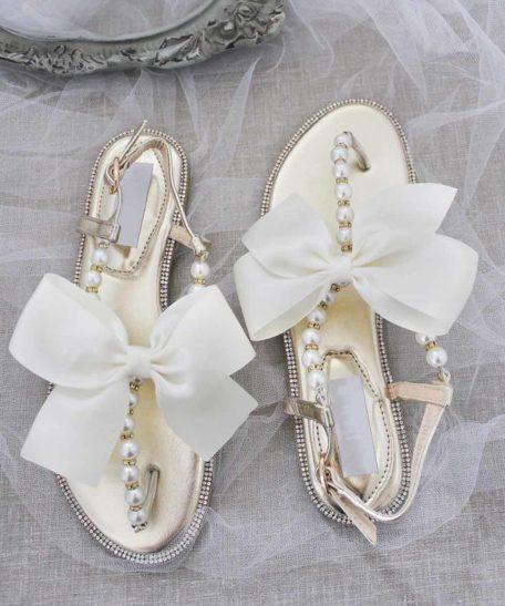 Slippers voor bruidsmeisjes goud bruidsmeisje communie