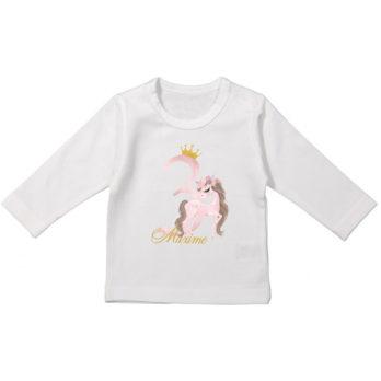 Verjaardag T-shirt lange mouw voor meisjes – Paard