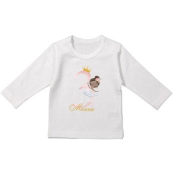 Verjaardag T-shirt lange mouw voor meisjes – Ballerina Charlize