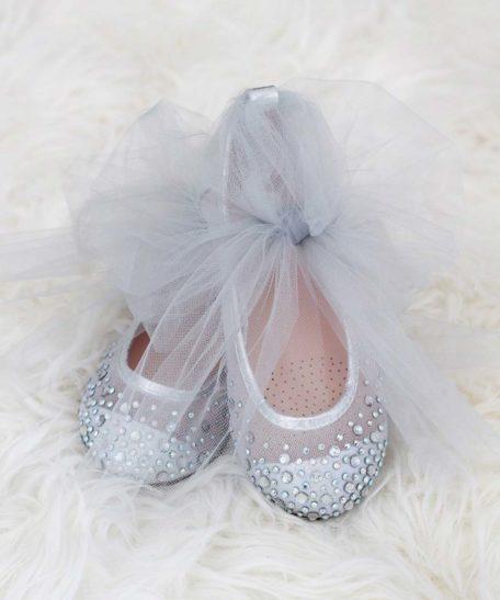 Zilveren communie bruidsmeisjes schoentjes