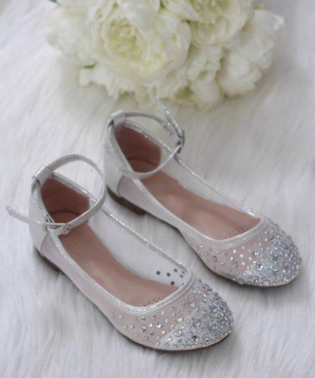 Zilveren ballerina's voor meisjes