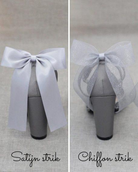 grijze zilveren trouwschoenen dames