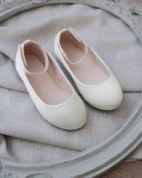 kinderschoenen bruismeisjes creme ivoor ballerina's