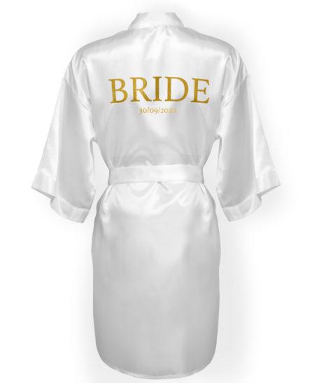 Satijnen badjas kimono bruiloft