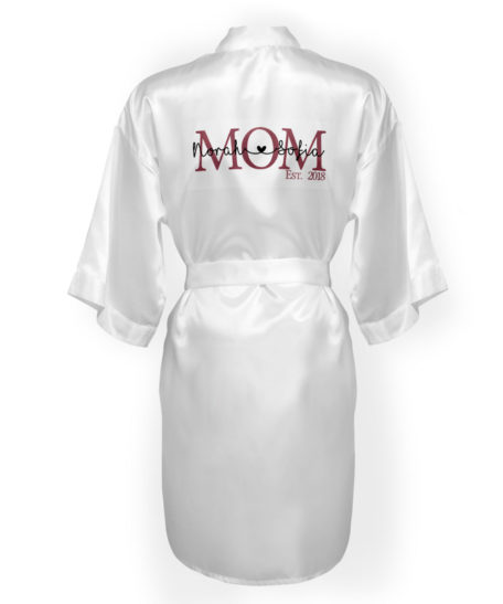 Badjas kimono dames-mom naam van je kinderen moederdagcadeau mama gepersonaliseerd