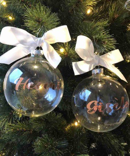Gepersonaliseerde kerstbal met naam kindernaam