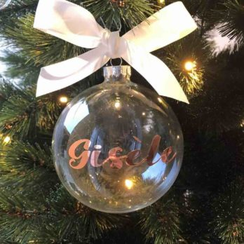 Kerstbal met naam / tekst
