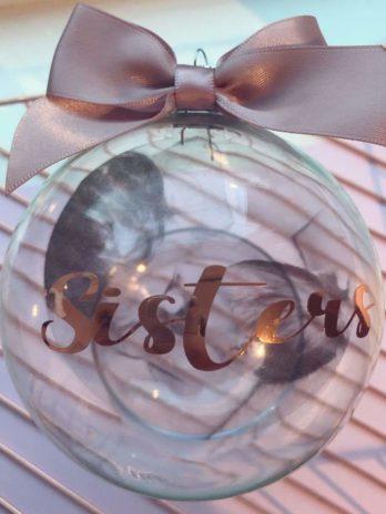 Kerstbal met tekst en foto