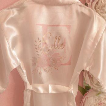 Kimono voor meisjes met letter en naam