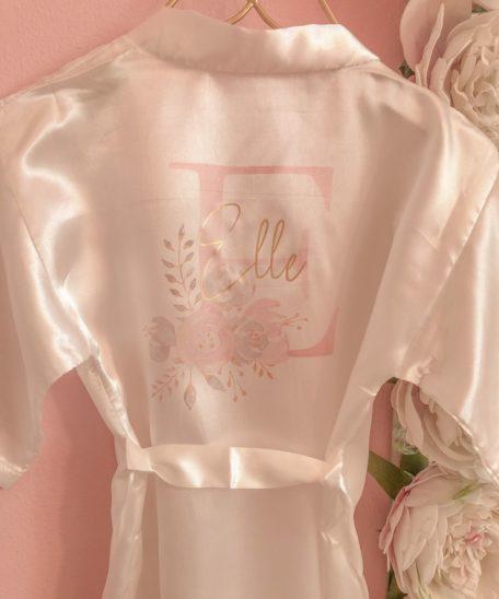 Badjas kimono met naam voor meisjes