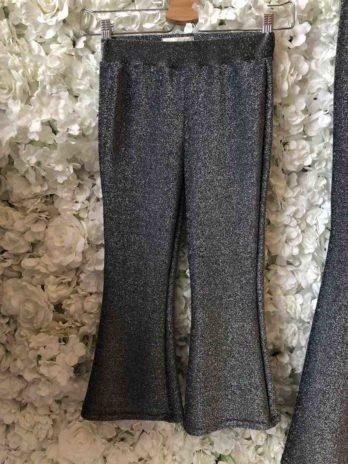 Flared legging zwart glitter – Kind