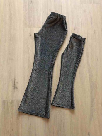 Flared legging zwart glitter – Dames