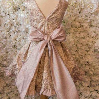 Jurk Amalia – roze glitter jurkje