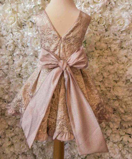 roze meisjes jurk met grote strik