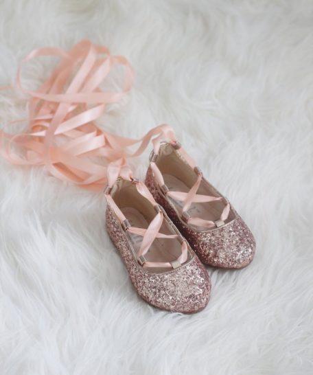 Glitter schoenen voor meisjes roze