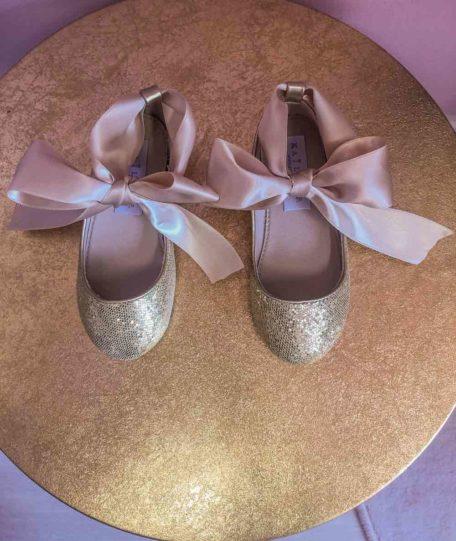 Gouden ballerina's meisjes maat 27