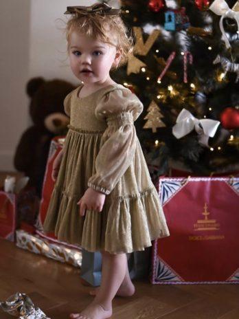 Jurkje Louella – Gouden jurk van tule