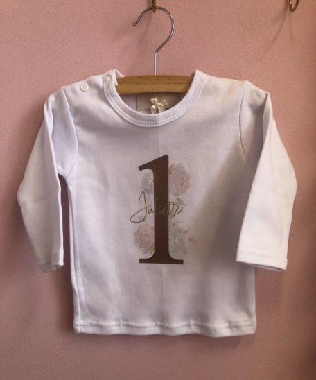 Verjaardag T-shirt 1 een jaar meisjes