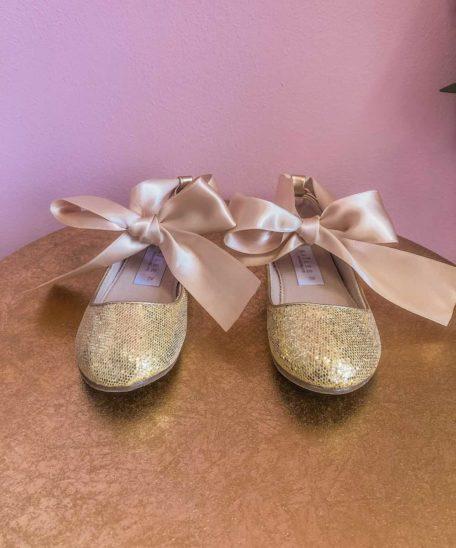 gouden ballerina's kindermaat 27