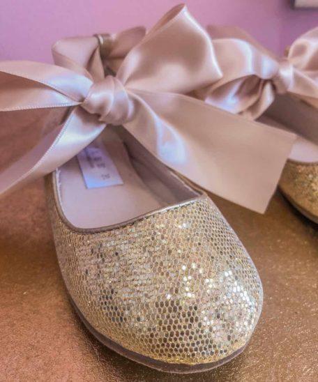 gouden glitters ballerina's maat 27