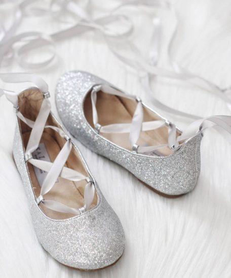 zilveren glitters meisjes schoenen