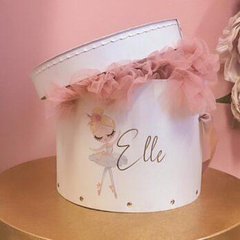 Tutu in a Box – Tule rokje in gepersonaliseerde luxe doos met afbeelding