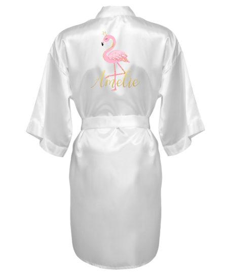 Badjas flamingo kimono meisjes