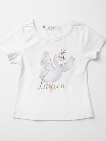 T-shirt voor meisjes – Zwaan