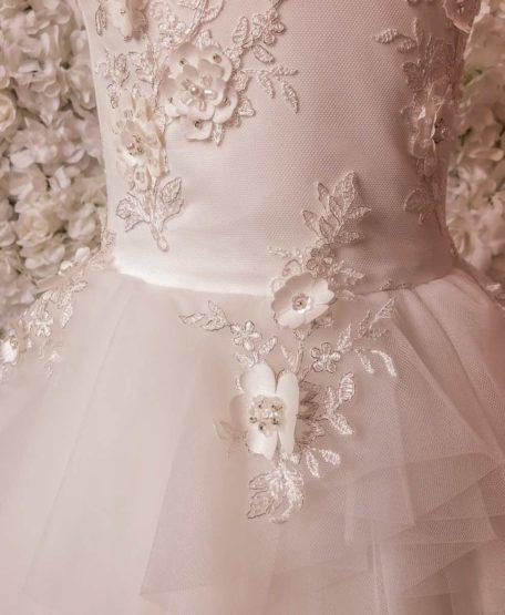 Bloemenkant kant bruidsmeisjes jurk