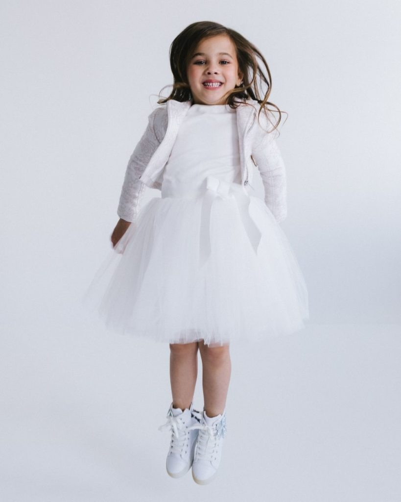 Tule jurk ivoor gebroken wit met tule