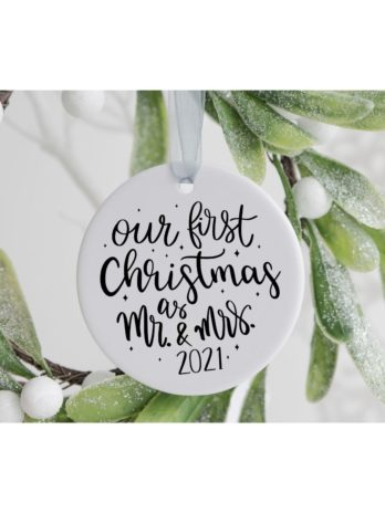 Kersthanger – First Christmas as Mr. & Mrs.