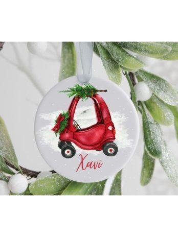 Kersthanger met naam – Auto kind
