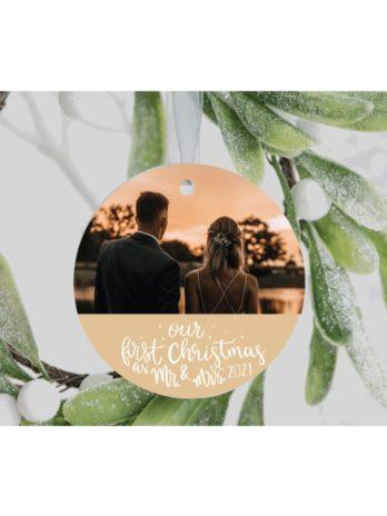 Kersthanger met foto – First Christmas as Mr. & Mrs.