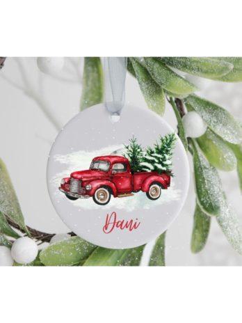 Kersthanger met naam – Auto