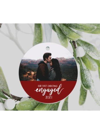 Kersthanger met foto – Verloofd